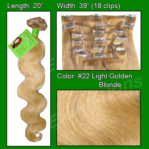 #22 Medium Blonde - 20 inch Body Wave