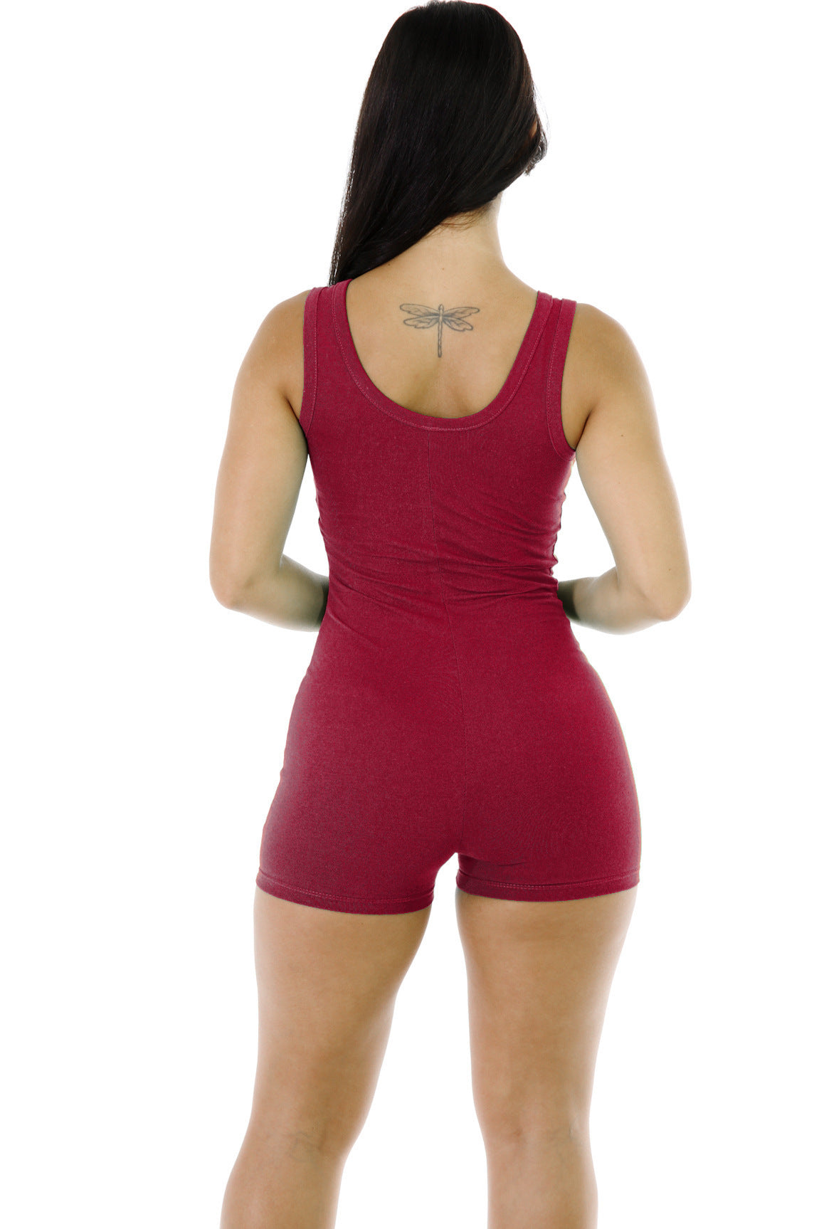 Women Solid Color Halter Sexy Jumpsuit