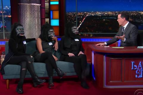 Guerrilla Girls on Stephen Colbert
