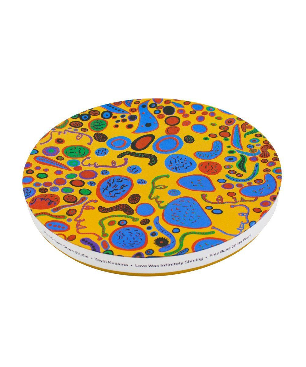 Third Drawer Down X Yayoi Kusama, Love Was Infinitely Shining Ceramic Plate Ceramic Third Drawer Down Studio