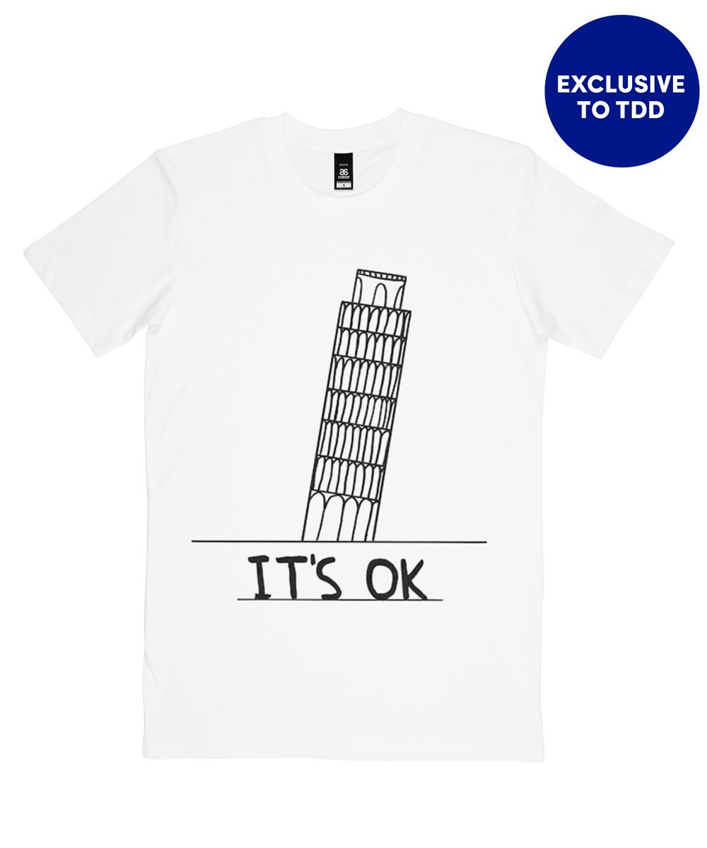 It's OK T-Shirt X David Shrigley Textiles Third Drawer Down Studio Small