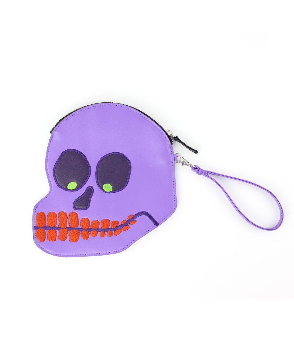 Embroidered Skull Purse x David Shrigley