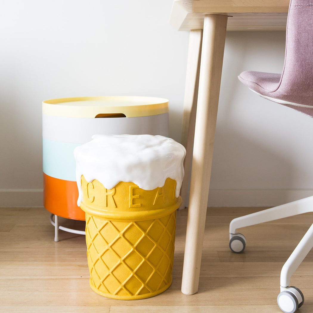 Giant Ice Cream Stool Plastic Third Drawer Down Studio