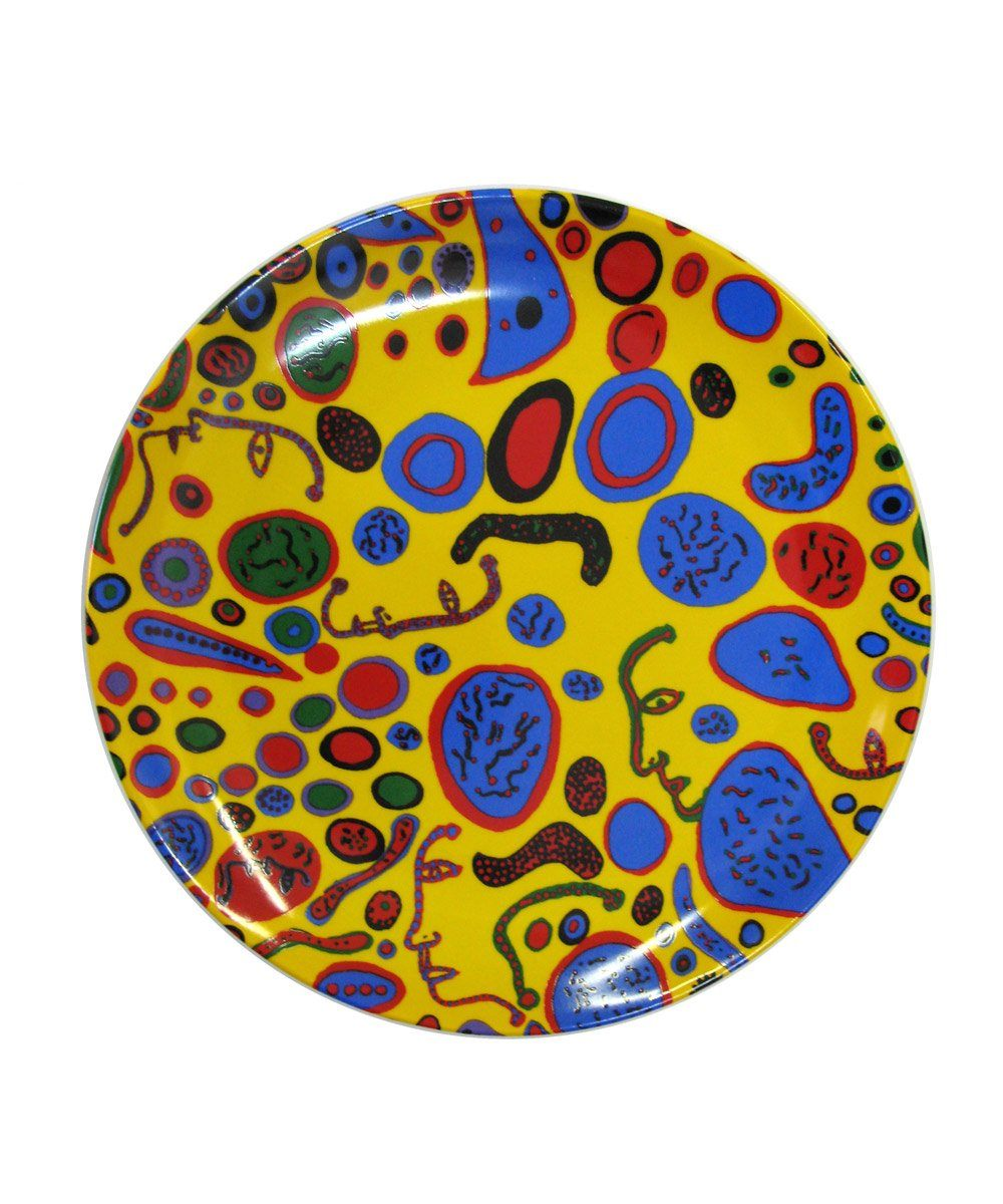 Third Drawer Down X Yayoi Kusama, Love Was Infinitely Shining Ceramic Plate Ceramic Third Drawer Down Studio Default Title