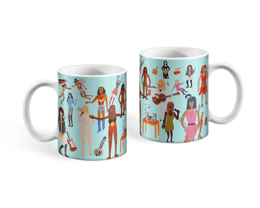 Wonder Woman's Wonderful World Mug x Kaylene Whiskey Ceramic Third Drawer Down Studio Default
