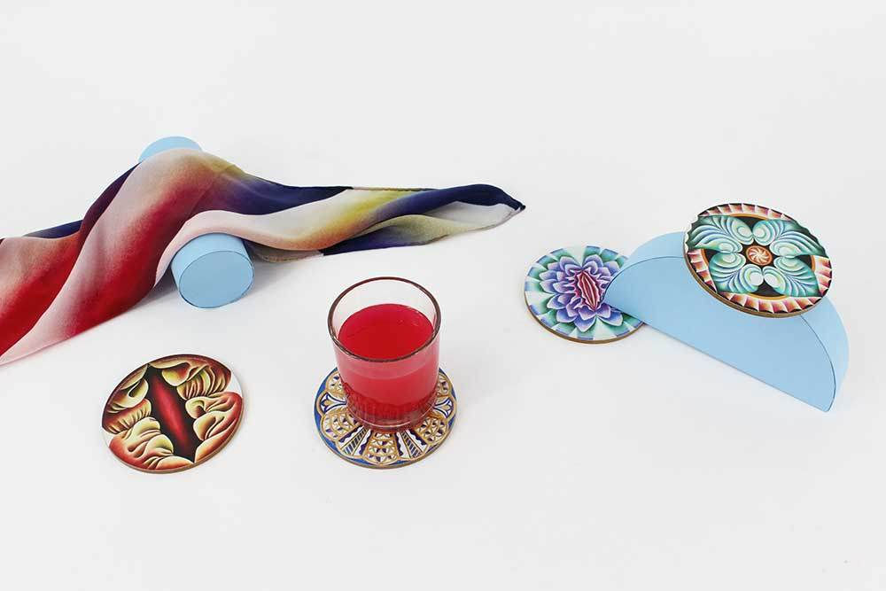 Set of Four Coasters x Judy Chicago