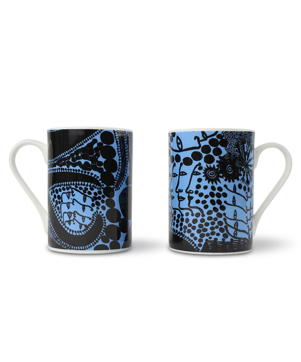 Third Drawer Down X Yayoi Kusama, Late-Night Chat Is Filled With Dreams Mug Set Ceramic Third Drawer Down Studio