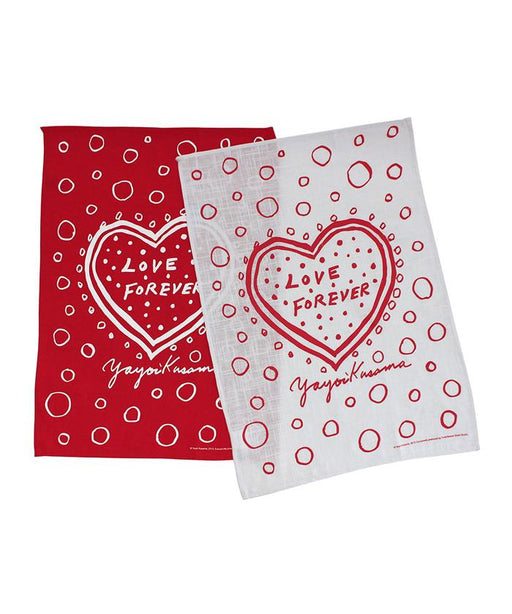 Third Drawer Down X Yayoi Kusama, Love Forever Domestic Art Towel Set Textiles Third Drawer Down Studio