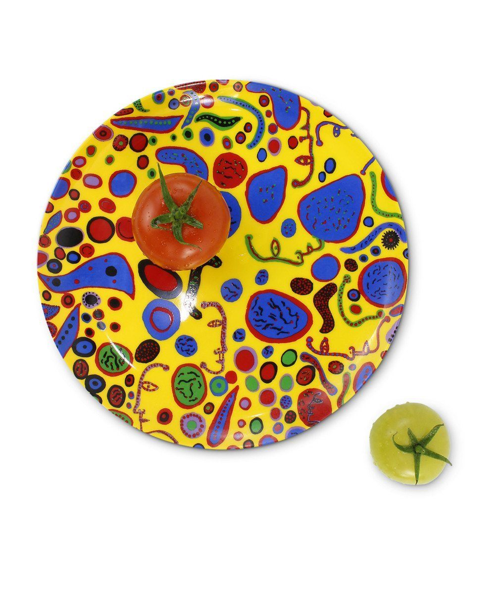 Love Was Infinitely Shining Ceramic Plate Third Drawer Down X Yayoi Kusama