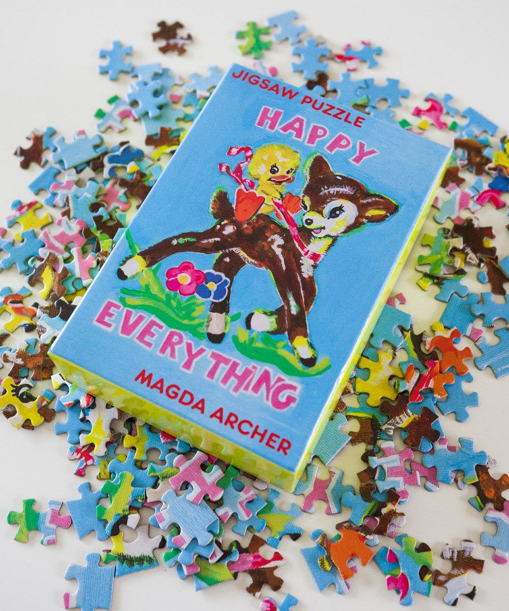 Happy Everything Jigsaw Puzzle x Magda Archer Paper Third Drawer Down Studio