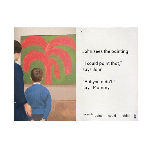 John Sees the Painting Tea Towel X We Go to the Gallery