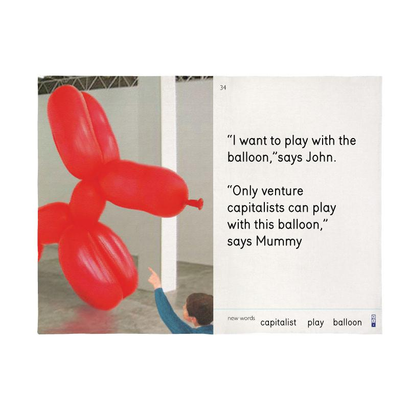 I Want to Play with the Balloon Tea Towel X We Go to the Gallery