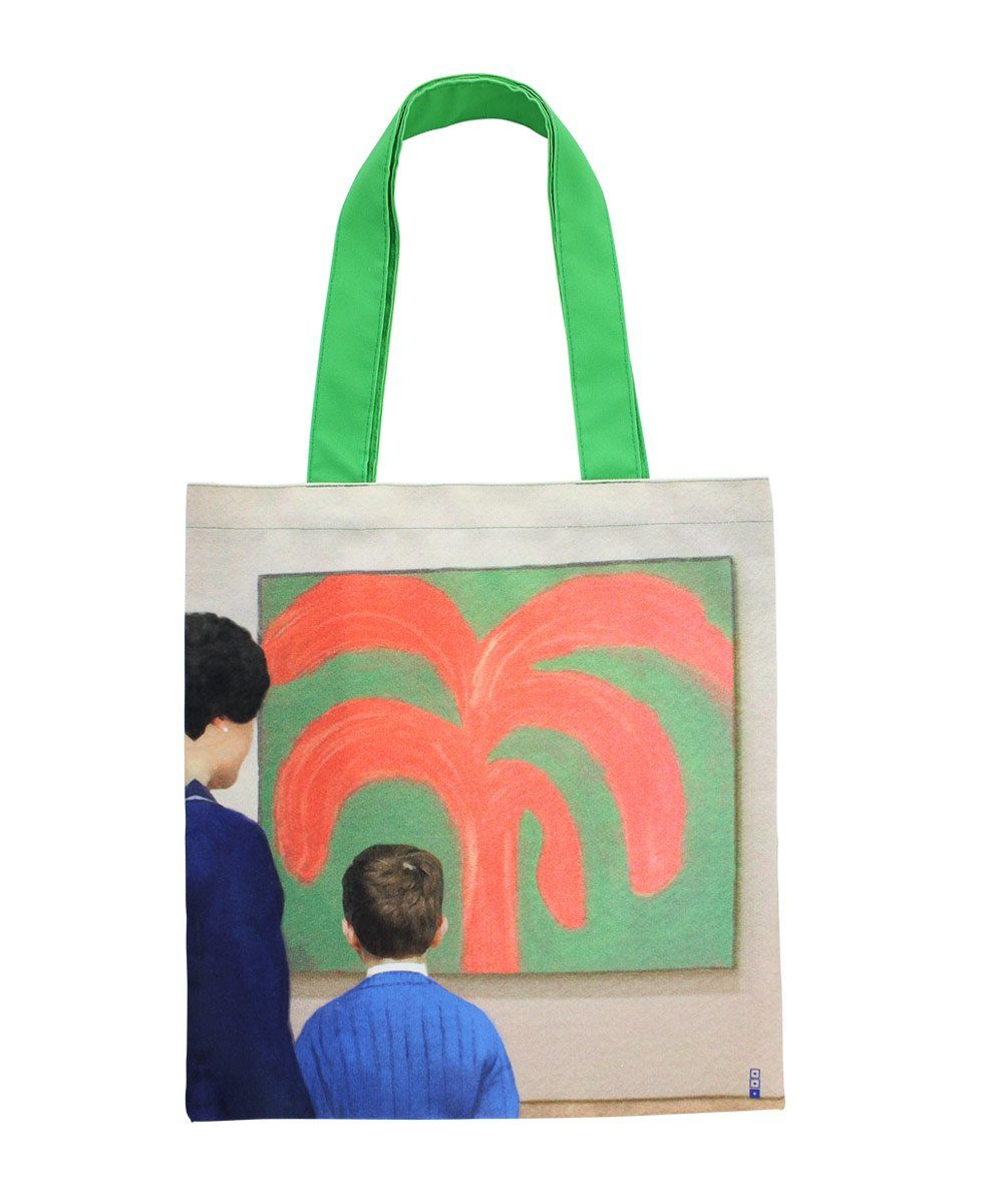 John Sees the Painting Tote Bag X We Go to the Gallery