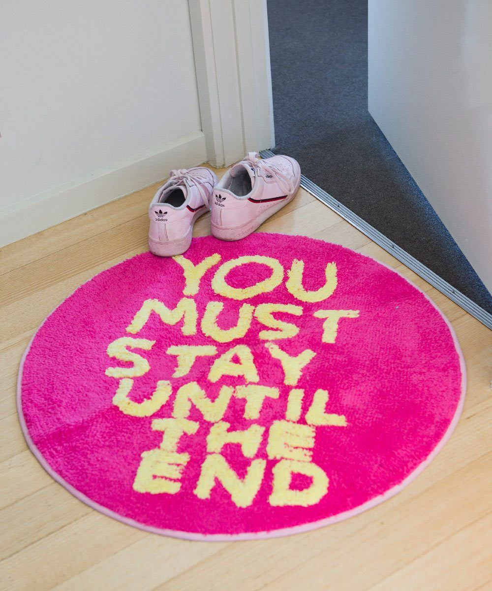 You Must Stay Shaggy Floor Mat X David Shrigley Textiles Third Drawer Down Studio