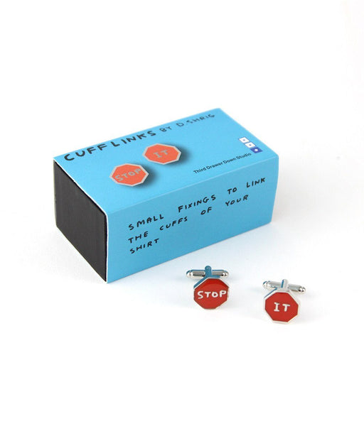 Stop It Cufflinks x David Shrigley