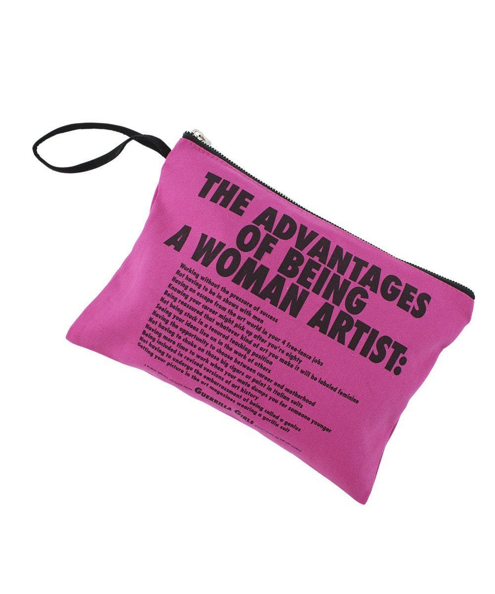Advantages of Being a Woman Artist Clutch X Guerrilla Girls
