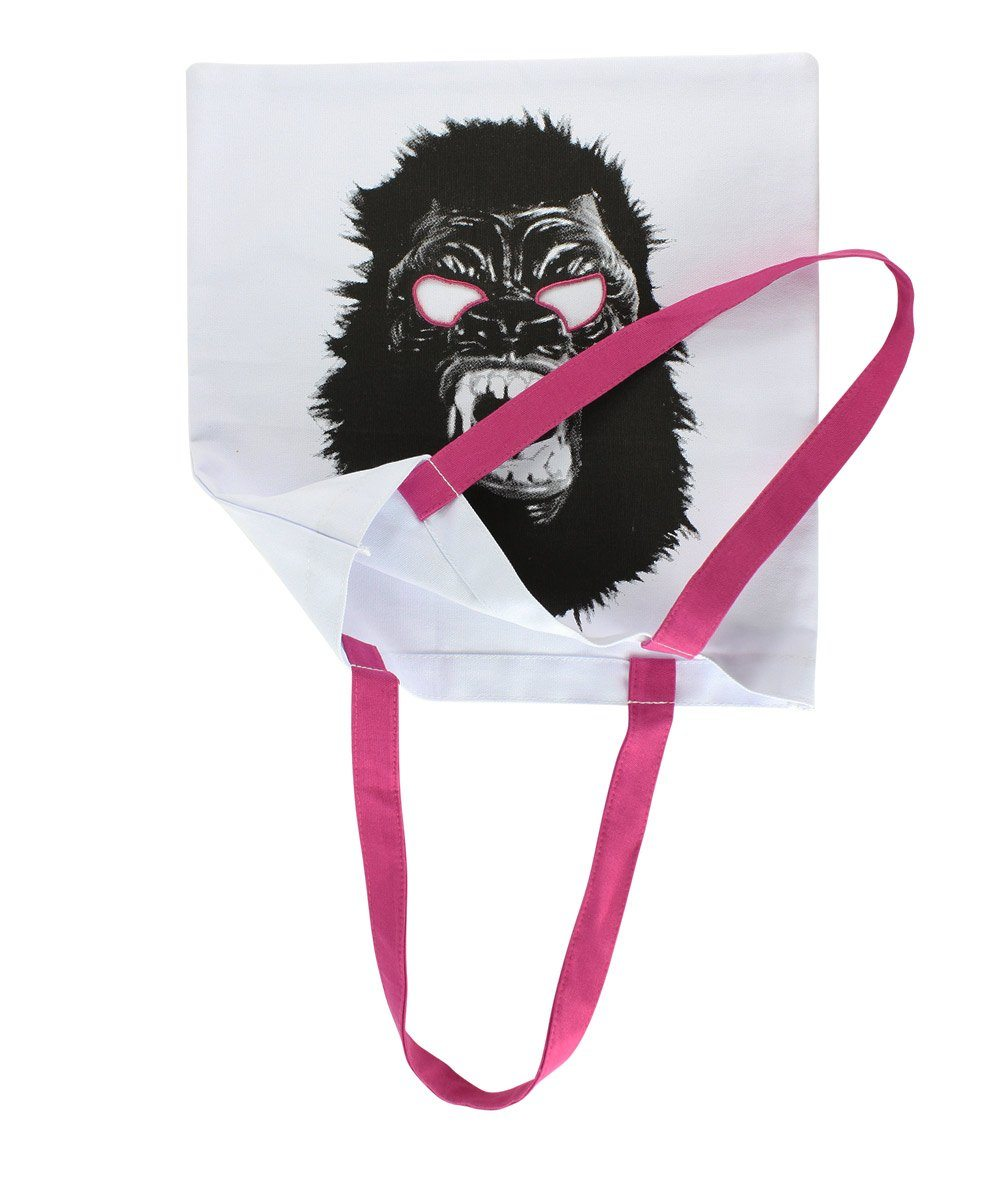 Third Drawer Down X Guerrilla Girls, Gorilla Mask Tote Bag Textiles Third Drawer Down Studio