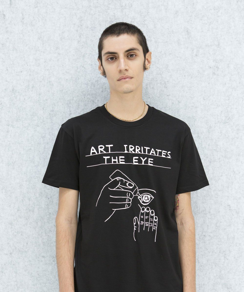 Art Irritates The Eye T-Shirt x David Shrigley Textiles Third Drawer Down Studio