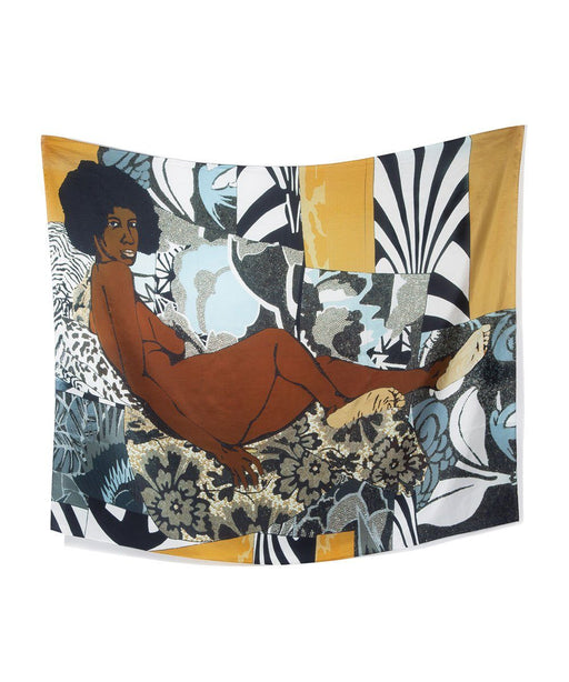 Third Drawer Down X Mickalene Thomas, A Little Taste Outside Of Love Scarf Textiles Third Drawer Down Studio