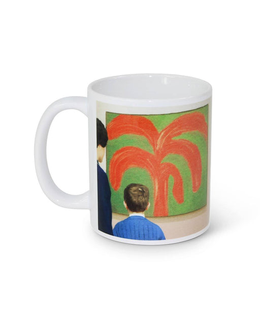 John sees the Painting Mug X We Go to the Gallery
