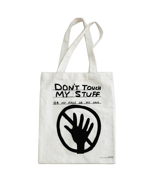 Third Drawer Down X David Shrigley, Don't Touch My Stuff Tote Bag