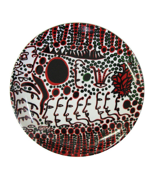 Third Drawer Down X Yayoi Kusama, Women Wait For Love, But Men Always Walk Away Ceramic Plate