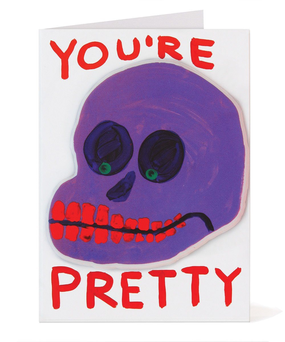 You're Pretty Puffy Sticker Card X David Shrigley Paper Third Drawer Down Studio Default Title