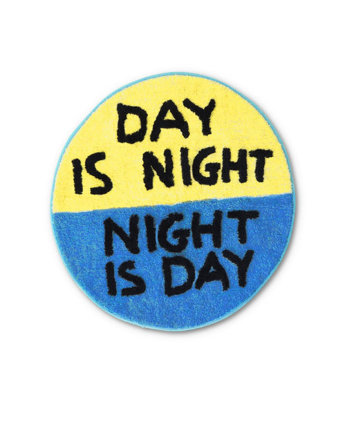 Day is Night Shaggy Floor Mat X David Shrigley Textiles Third Drawer Down Studio Default Title
