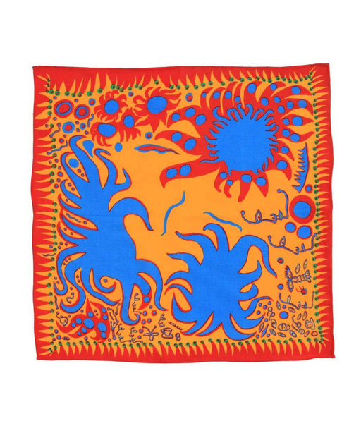 Third Drawer Down X Yayoi Kusama, Joy I Feel Handkerchief
