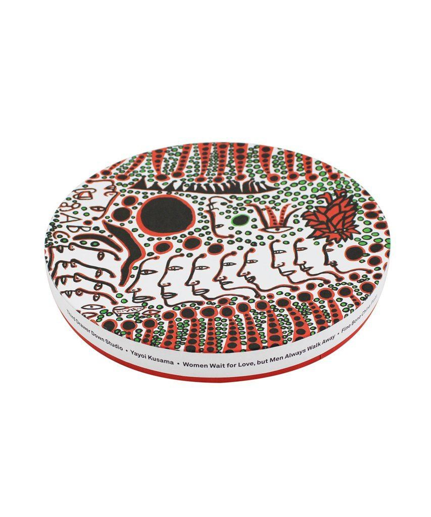 Third Drawer Down X Yayoi Kusama, Women Wait For Love, But Men Always Walk Away Ceramic Plate Ceramic Third Drawer Down Studio