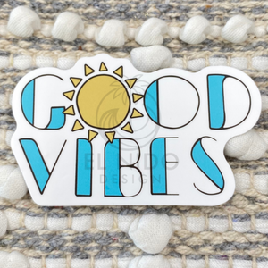Sun Blue Good Vibes Sticker