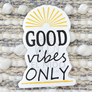 Yellow Good Vibes only Sticker