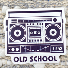 Load image into Gallery viewer, Blue BOOM Box Sticker