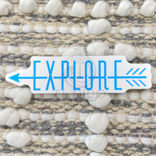 Load image into Gallery viewer, Blue Explore Sticker