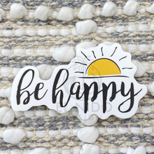Load image into Gallery viewer, Yellow Be Happy Sticker