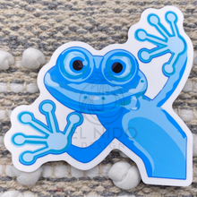 Load image into Gallery viewer, Blue Frog Sticker