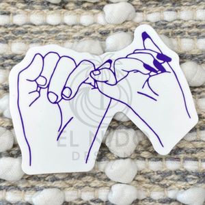 Blue BFF Hands Sticker