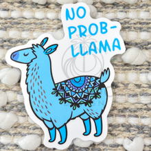 Load image into Gallery viewer, Blue No Pro-Llama Sticker
