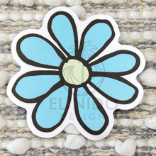 Load image into Gallery viewer, Blue Flower Sticker