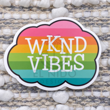 Load image into Gallery viewer, Rainbow WKND Vibes Sticker