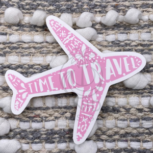 Pink Time To Travel Sticker