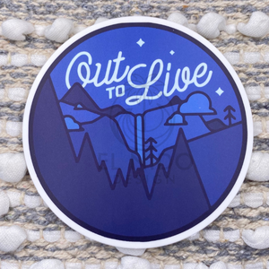 Round Out to Live Sticker