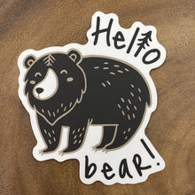 Load image into Gallery viewer, Hello Bear Sticker