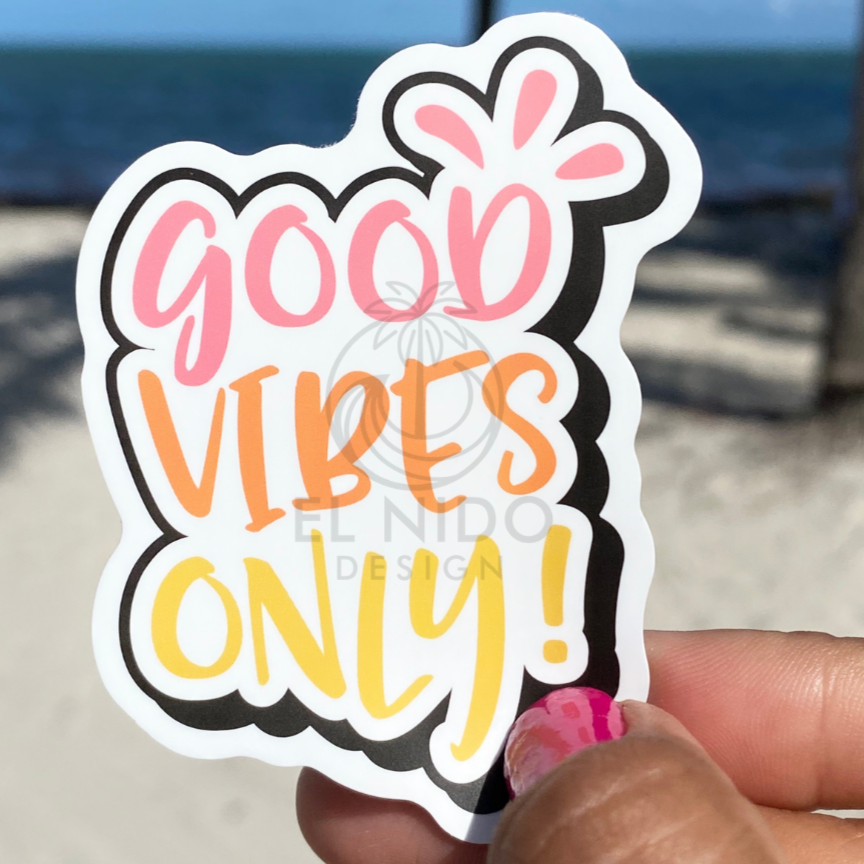 Summer good vibes only Sticker
