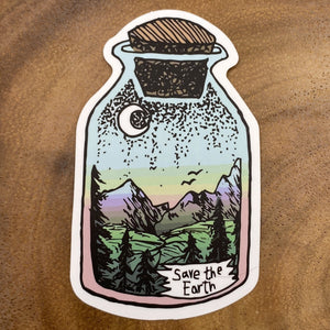 Save the Earth Bottle Sticker