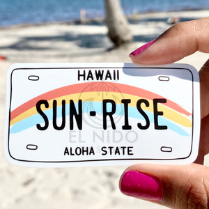 Hawaii Sun RiseLicense plate Sticker