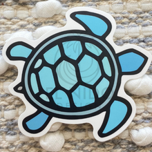 Load image into Gallery viewer, Blue Turtle Sticker