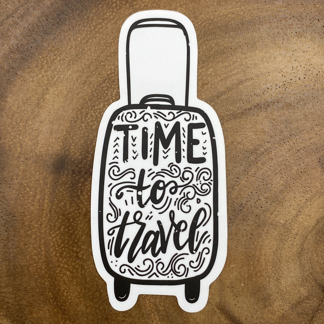 Time to Travel Suitcase Sticker