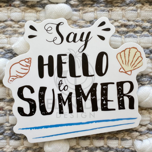 Say Hello to Summer Sticker
