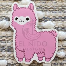 Load image into Gallery viewer, Pink Llama Sticker